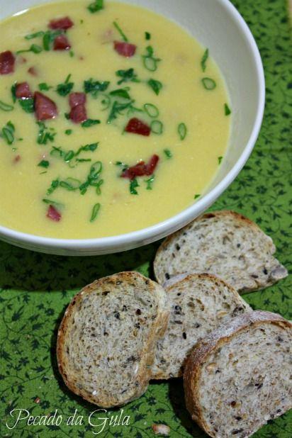 sopa cremosa de milho Mais