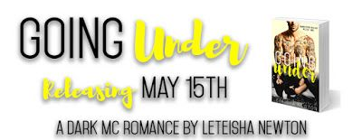 Cover Reveal - Going Under - LeTeisha Newton   Melody learned the hard way the streets were no place for her.  Jack realized sometimes family isnt always blood.  After witnessing a murder orchestrated by the Diamond Eaters Motorcycle Club Melody becomes a pawn in a game of Who Dies First.  Captives arent supposed to fall in love with their captor or help them survive at any cost  right?  Stay tuned for the pre-order tour the first week of May. Sign up here if you would like to be a part of…