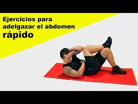 Ejercicios para adelgazar el abdomen en casa rápido - HIIT + abdominales - YouTube