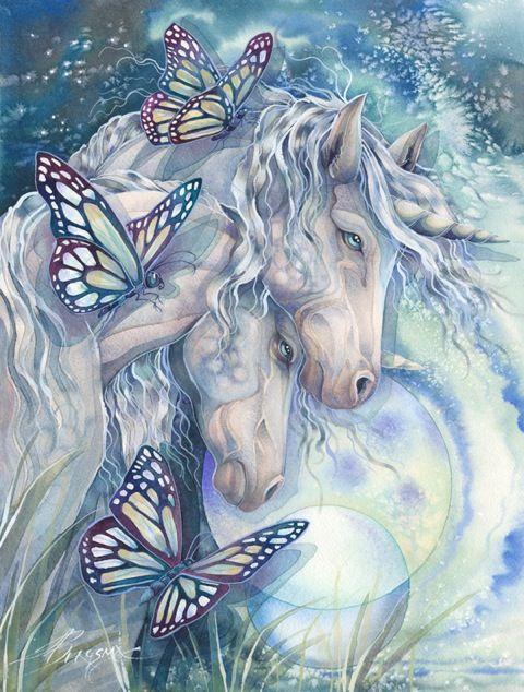 Jody Bergsma Unicorns and butterflies finished - so pretty!