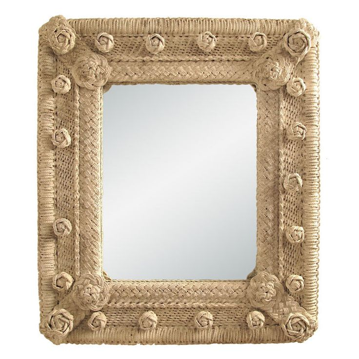 large Sailor's Knot Macrame Mirror | From a unique collection of antique and modern wall mirrors at http://www.1stdibs.com/furniture/mirrors/wall-mirrors/