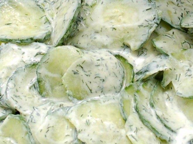 Romige komkommersalade met verse dille - Lekker Tafelen