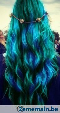 1000 images about cheveux on pinterest coupe teal hair and coiffures - Coloration Cheveux Bleu Turquoise