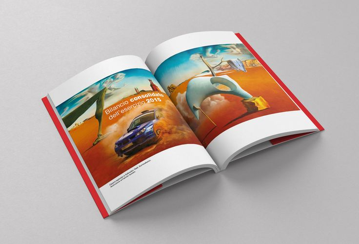 """#TheArtOfBraking, #illustration inspired by #SalvadorDali #Surrealism #AnnualReport Una delle illustrazioni realizzate per il bilancio #Brembo """"Designing the Future"""" ispirate all'arte del Novecento."""