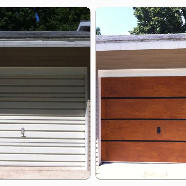 garage door makeover under 100 we only spent 75 old