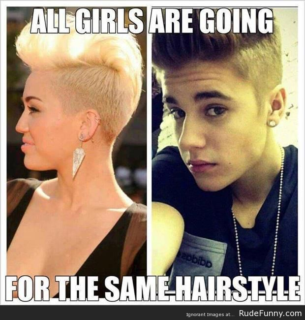 Justin Bieber and Miley Cyrus - http://www.rudefunny.com/memes/justin-bieber-miley-cyrus/