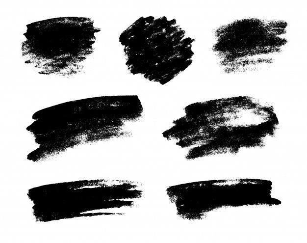 Set Of Black Grunge Vector Brushes Black Grunge Vector Brush