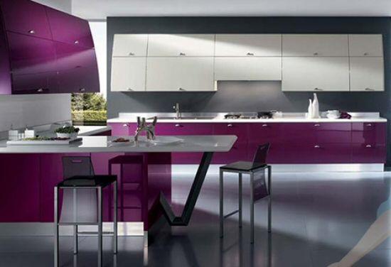 modern fuxia kitchen