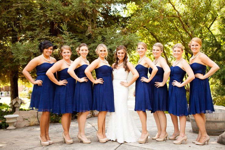 Navy dresses outdoor wedding nude shoes nicki 39 s for What shoes to wear with navy dress for wedding