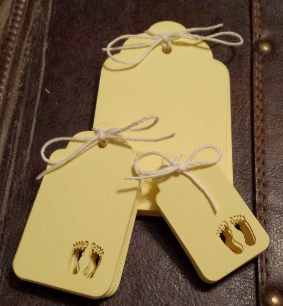 Baby Feet Gift Tags Set of 25  4 Different by SillyLoveSongCustoms