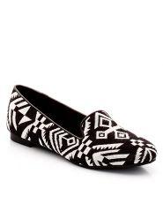 Loafers i mönstrat tyg-Skor-Damskor-Ballerinaskor kr349