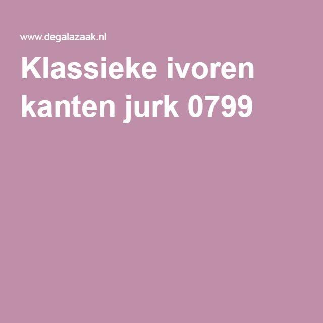 Klassieke ivoren kanten jurk 0799