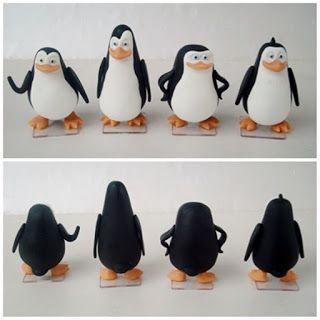 Lembrancinha e topo de bolo - Biscuit Making Of : Pinguins de Madagascar de…