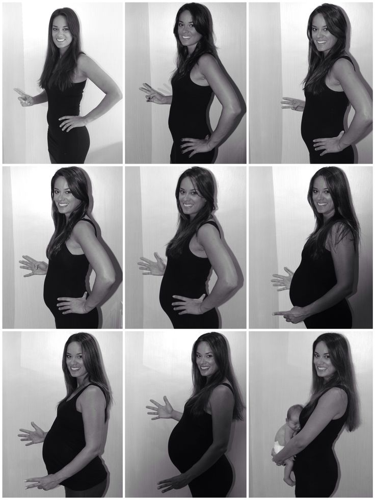 The evolution of my pregnancy