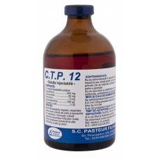 C.T.P. 12 se foloseşte la animale de companie - câini şi pisici - în combaterea infecţiilor locale şi sistemice provocate de bacteriile menţionate, sensibile la cloramfenicol şi tilozină: infecţii ale aparatului digestiv (enterite, peritonite etc.), respirator (penumonii, bronhopneumonii, pleurezii), genito-urinar (metrite, nefrite, cistite); infecţii ale pielii şi ţesuturilor moi; septicemii, meningite;