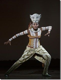 """Nia Holloway stars as Nala in Broadway in Chicago's """"The Lion King"""" by Elton John and Tim Rice, directed by Julie Taymor. (photo credit: Joan Marcus)"""