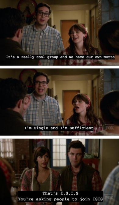 New girl, my love when feeling bad, this is THE thing to watch