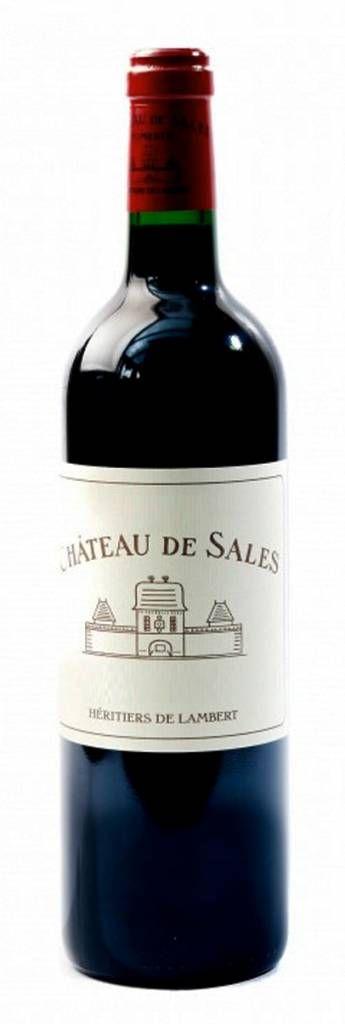 Bestel Chateau de Sales Pomerol 2008 - Chateau de Sales, heeft een van grootste wijngaarden in Pomerol (48Ha). Rijke wijn met een neus van zwarte bessen en leer. Ook komen de geuren van tabak en cederhout je tegemoet. Zachte elegante wijn uit een topjaar! #wijn #rodewijn