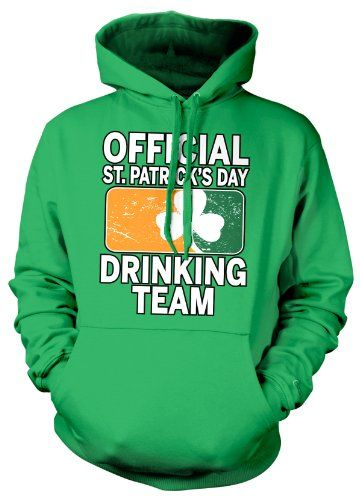 Cybertela Official St Patricks Day Drinking Team Sweatshirt Hoodie Faded Irish Flag Hoody (Kelly Green X-Large)
