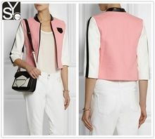 2015 spring woman mid-length sleeve pink jacquard jacket SYA15053  Best Buy follow this link http://shopingayo.space