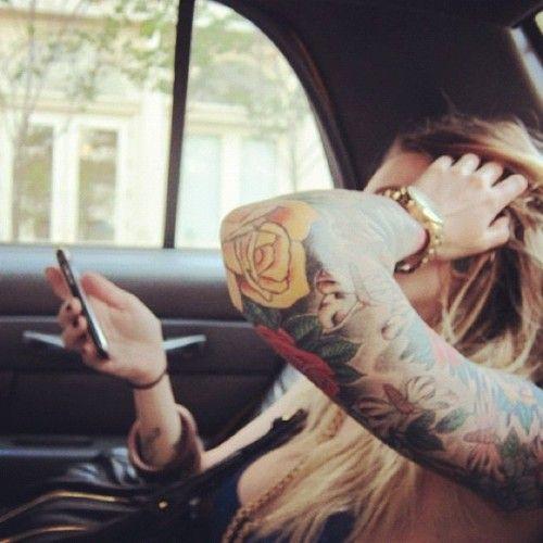 Big men's watch: Tattoo Ideas, Tattoo Sleeve, Yellow Rose, Sleeve Tattoo, Side Tattoo, Flowers Sleeve, Full Sleeve, Rose Tattoo, Tattoo Ink