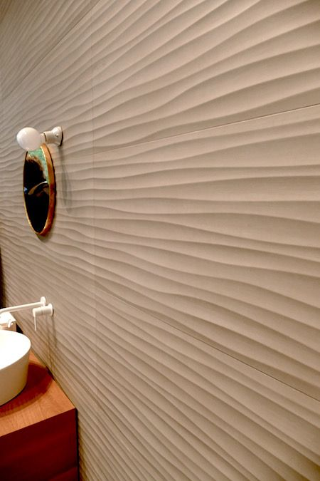 3D Wellen an der Wand *