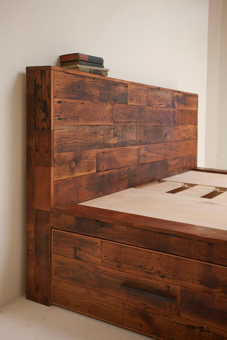 Reclaimed Old Growth Storage Bed, Maximize the Space and Style in your Sleeping Headquarters.. $2,250.00, via Etsy.