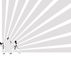 58 best sport powerpoint templates images on pinterest karate power point template with gray background color and karate fighters toneelgroepblik Images