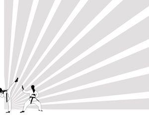 Puede descargar la plantilla en Power Point de karate de forma gratuita #karate #deporte #powerpoint