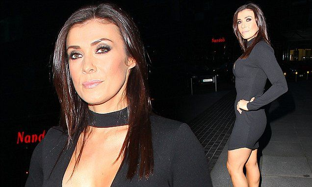 Kym Marsh leads the way in an LBD at Alison King's Corrie leaving do