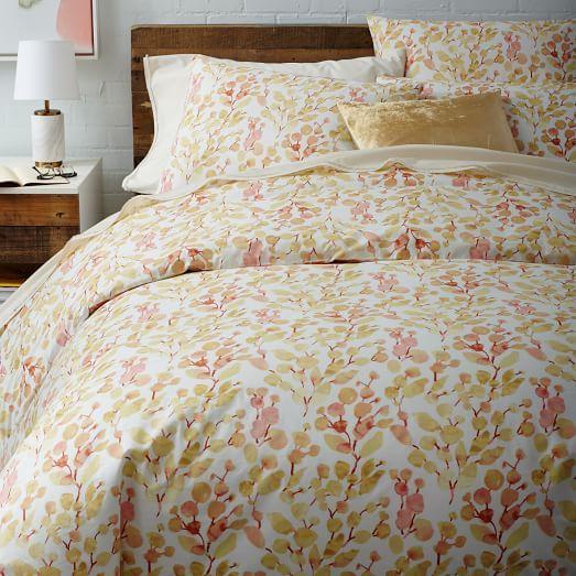 Organic Dot Blossom Duvet Cover + Shams | west elm | Home ...