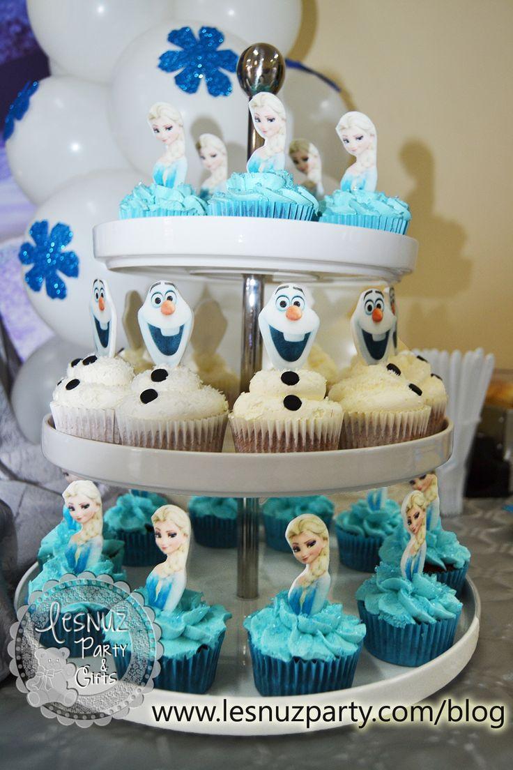 Cupcakes Elsa Frozen + Olaf