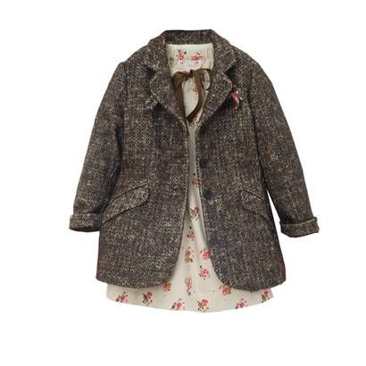 little tweed jacket with suit pockets. this is so adorable for a little girl.