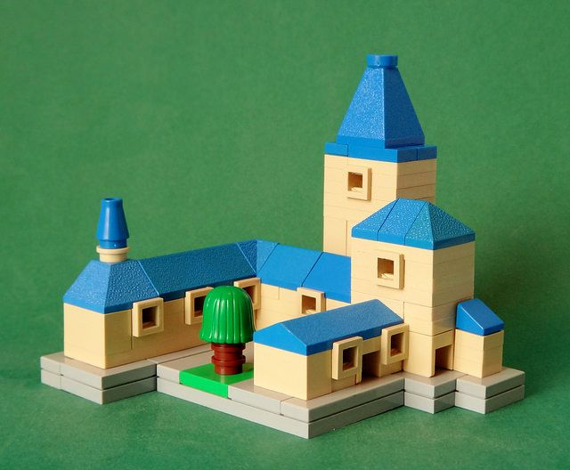 Lego Mocs Micro ~ The Old Asylum   by simplybrickingit