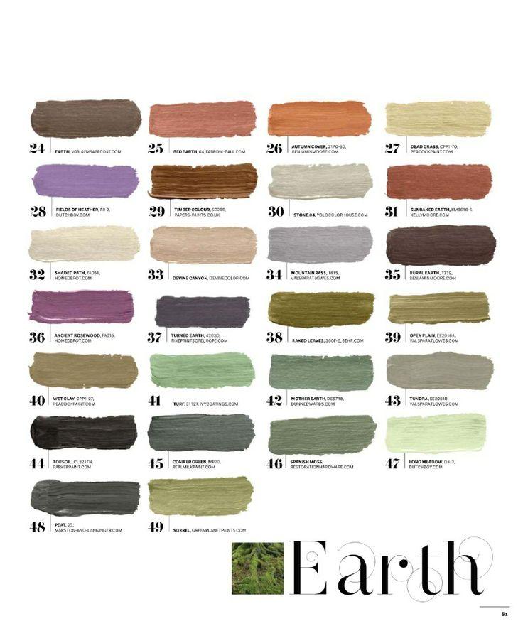 Earth tone colors.