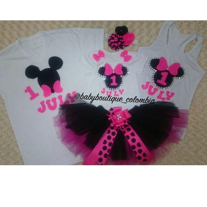 """Pedidos entregados!! """"Mi Cumpleaños de Minnie Black &  Pink"""" Hermosos diseños para las fechas más especiales de nuestras pequeñas, cumpleaños,  separa el tuyo a tiempo,  diseños exclusivos qué confeccionamos con amor de mamá!! 😍😍.... En @babyboutique_colombia se visten las princesas más preciosas y exclusivas de #colombia... Información por WhatsApp 3044499965 #princesas #diseñosexclusivos #pedidolisto #bebes #clientesfelices #baby#babystuff#babyproducts#"""