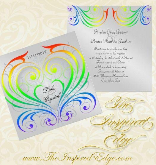 #Rainbow #Wedding #Invitations