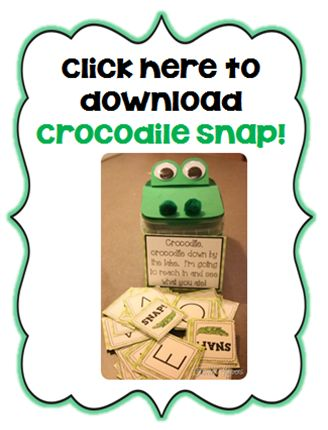 """Letter A- Alligator, Alligator down by the lake, I'm going to reach in and see what you ate. Use for letter sound recognition, sort our beginning sounds, sort out CVC vowel sounds, sort word family """"ake"""""""