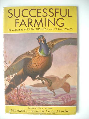 Successful Farming Magazine 10 1935 Arthur Bade Cover | eBay