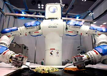 Robots that can prepare your food, including a sushibot and a burritobotHeads, Fat Burning Food, Robots Sushi, Future Technology, Minimum Wage, Food Workers, Burgers Flip Robots, Robots Tech, Fast Foods