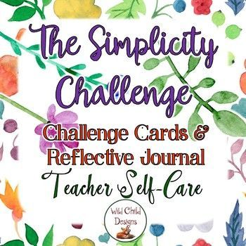 Are you ready for a challenge? This gorgeous and reflective product was created for teachers who want to pay more attention to self-care. You can't fill someone else's bucket unless you fill your own. This product is about filling your own bucket and taking time to remember