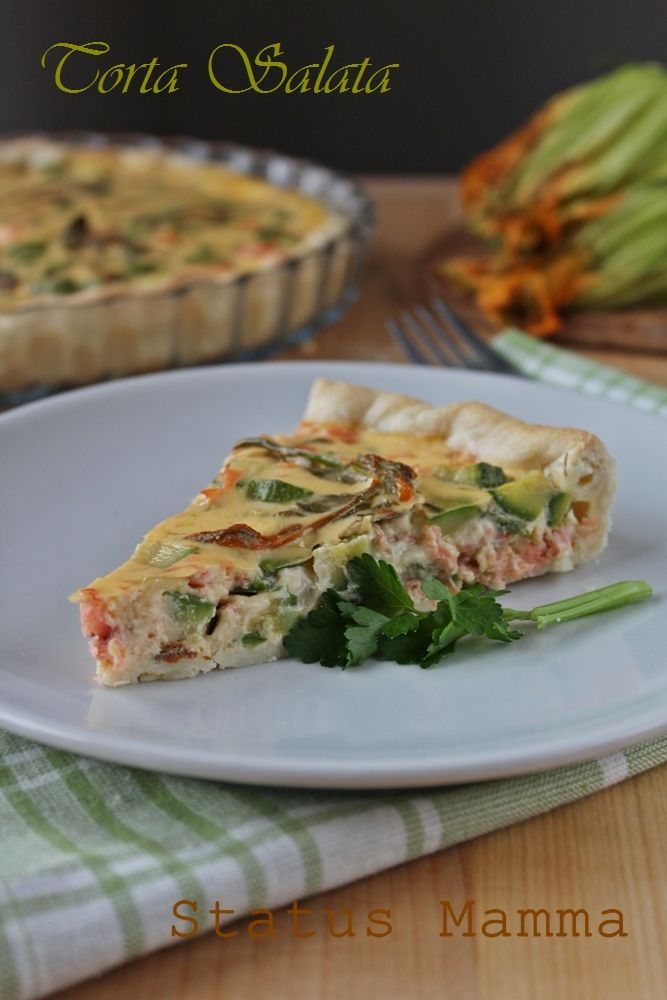 Torta salata al salmone e zucchine ricetta quiche secondi fiore zucchine salmone affumicato zucchine novelle Statusmamma BlogGz Giallozaffer...