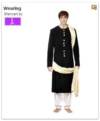 Male user at DishyLooks trying a Wedding dress on his own body...