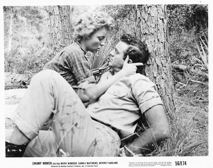 Beverly Garland and Mike Connors, Swamp Women (1956)