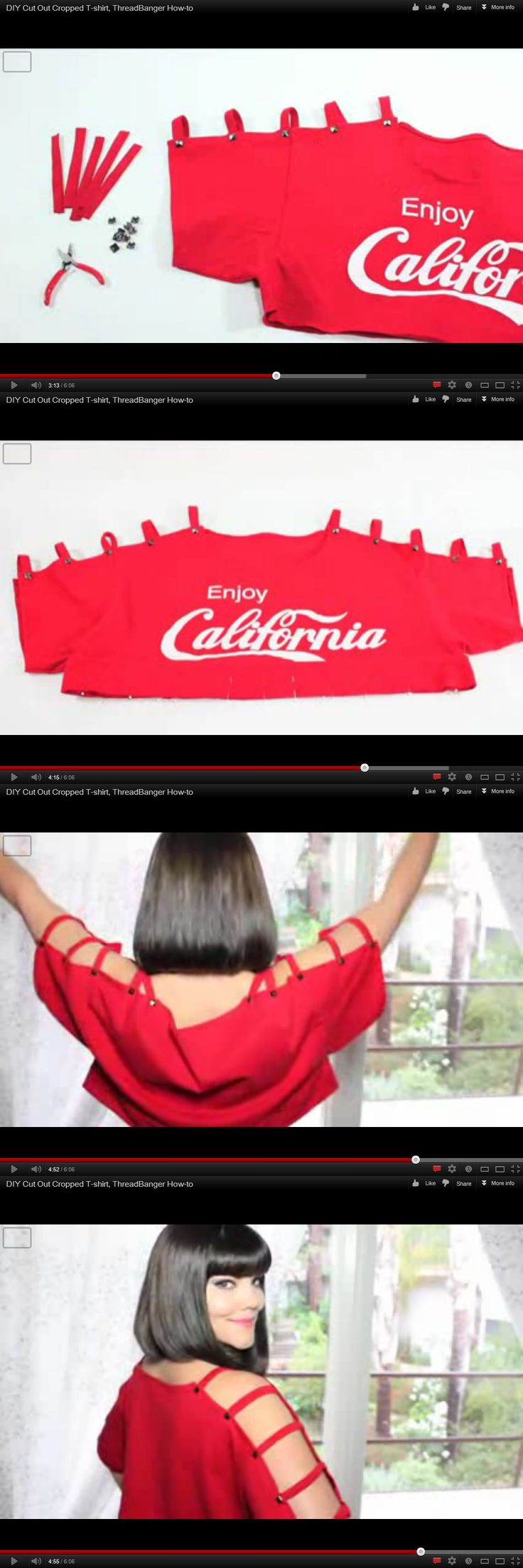 DIY Cut Out Cropped T-shirt, ThreadBanger How-to