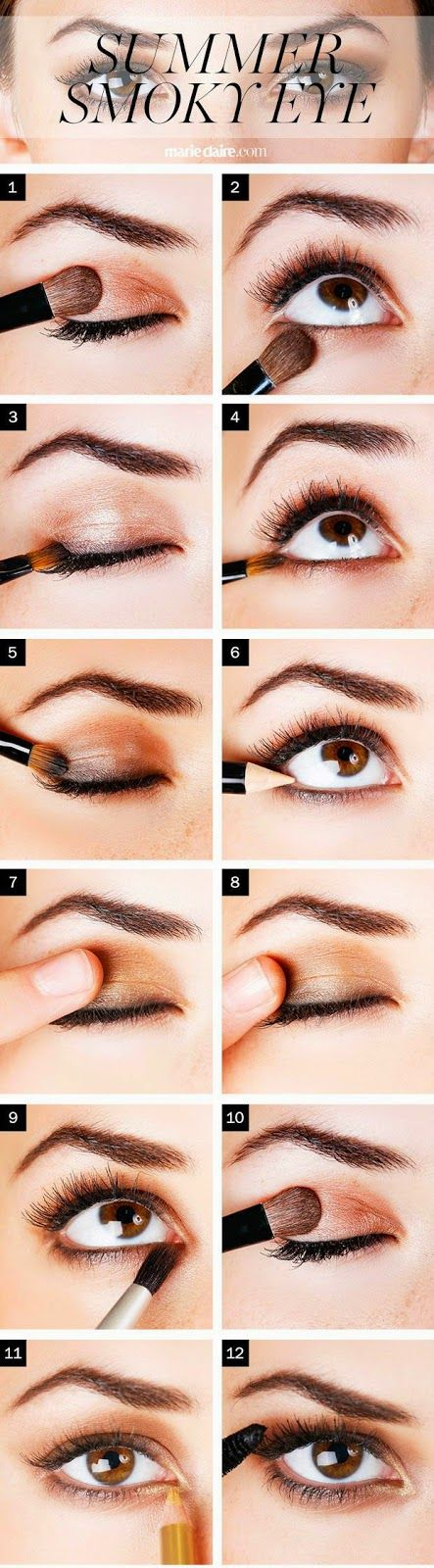 How To Get a Bronze Summer Smoky Eye - Step By Step Metallic Smoky Eye - Beauty Bets