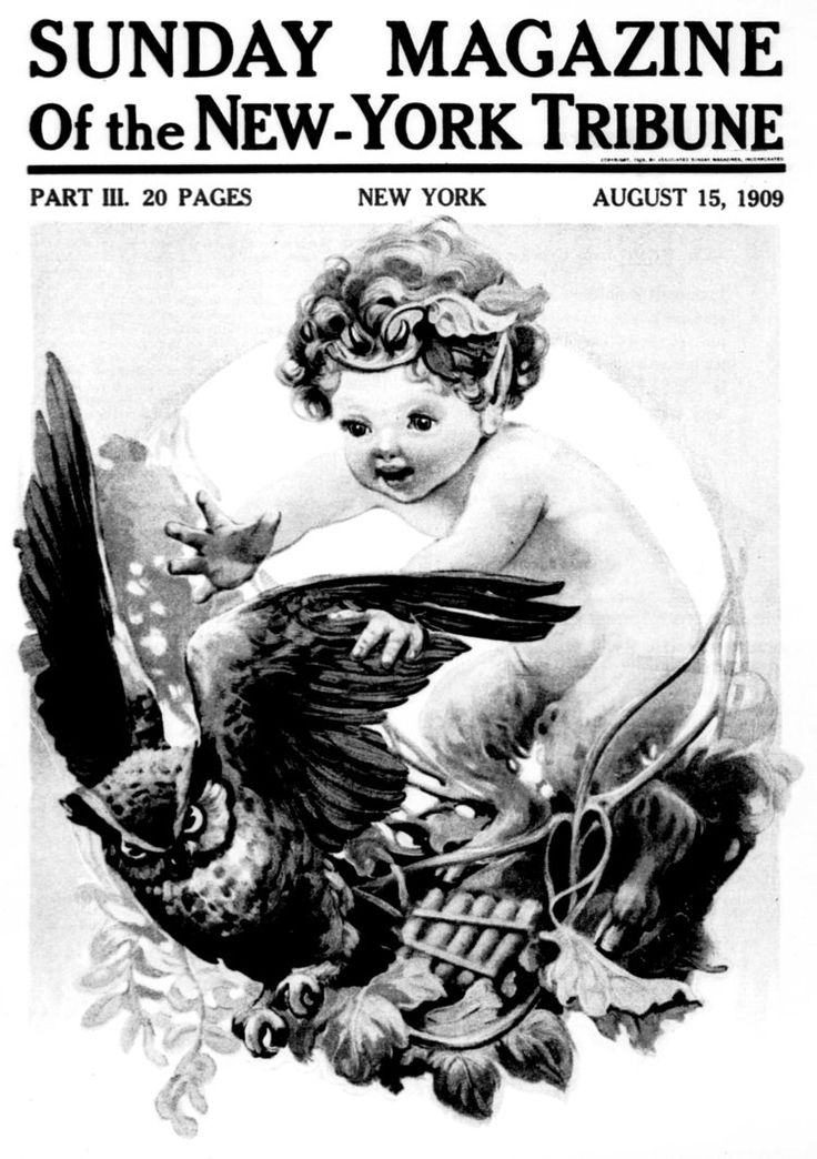 Baby Satyr and Owl vintage newspaper cover by Sue2BlueEyes.deviantart.com on @DeviantArt