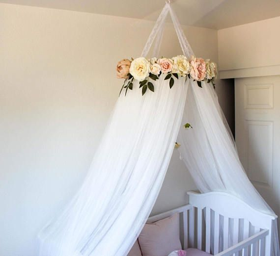 Beautiful And Serene Crib Or Bed Canopy Made With Luxuriously