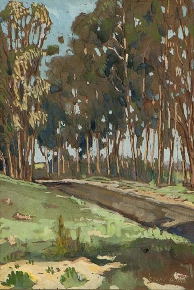 EDGAR ALWIN PAYNE Eucalyptus Grove (1920) #tree #art #landscape