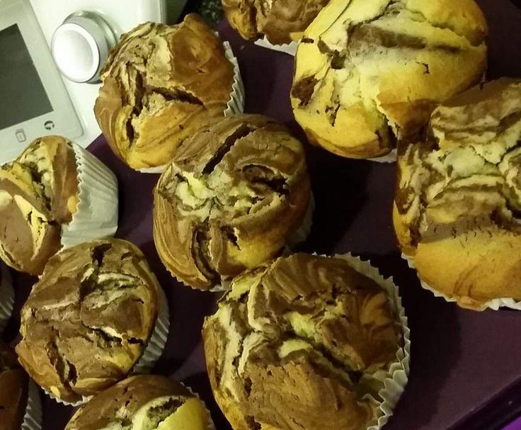 Rezept Marmor-Muffins von Frau S - Rezept der Kategorie Backen süß